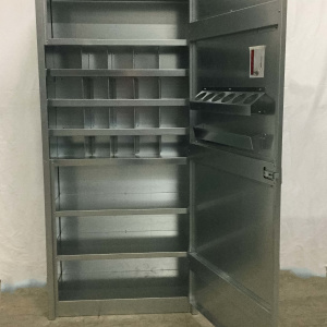 metal storage cabinet with bins and shelves add to cart view details